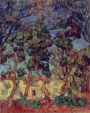 Hammer Museum - Vincent van Gogh. Hospital at Saint-Rémy, 1889. Oil on canvas. 36 5/16 x 28 7/8 in. (92.2 x 73.4 cm). The Armand Hammer Collection, Gift of the Armand Hammer Foundation. Hammer Museum, Los Angeles.