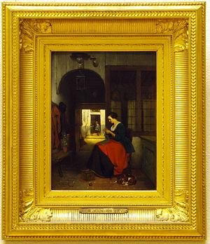Hubertus van Hove - The Knitter; Teylers