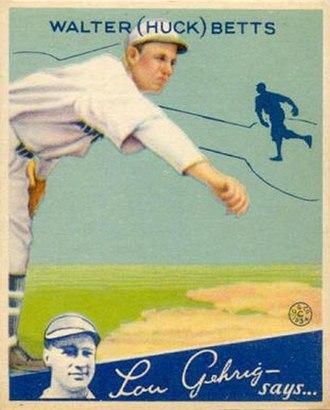 Huck Betts - Huck Betts 1934 Goudey baseball card