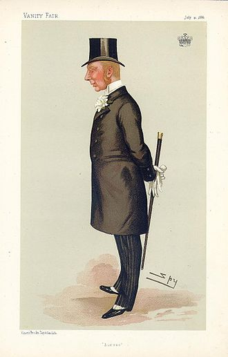 Hugh Lowther, 5th Earl of Lonsdale - Vanity Fair caricature, 10 July 1886