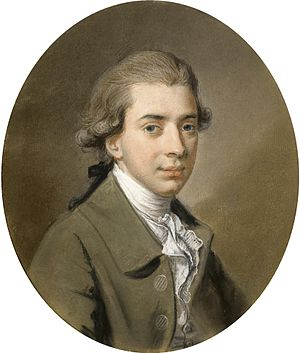 Hugh Douglas Hamilton - Portrait of a Young Gentleman, by Hugh Hamilton.