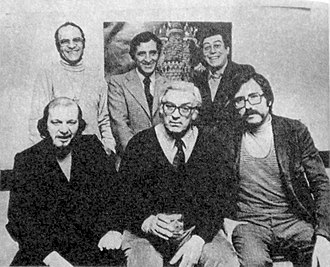 Oscar Conti - Oski (front and center) poses with fellow Argentine caricaturists of renown in 1979.