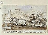 Hur långt ha vi fram?. Fritz von Dardel, 1839 - Nordiska Museet - NMA.0023952