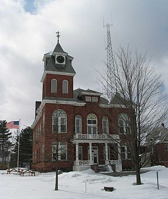 Hyde Park (town), Vermont - Lamoille County Courthouse, Hyde Park.  Designed by Zachary Taylor Austin in 1911.