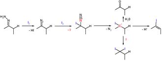 Hydrazone iodination - Hydrazone Iodization Reaction Mechanism
