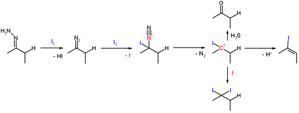 Hydrazone Iodization Reaction Mechanism