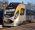 Hyundai Train at Truskavets Station.jpg