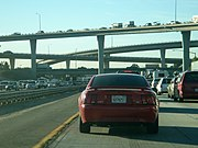 I-10, 215 Interchange traffic, San Bernardino, CA