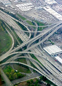 I-90 and I-5 cloverleaf seattle washington.jpg