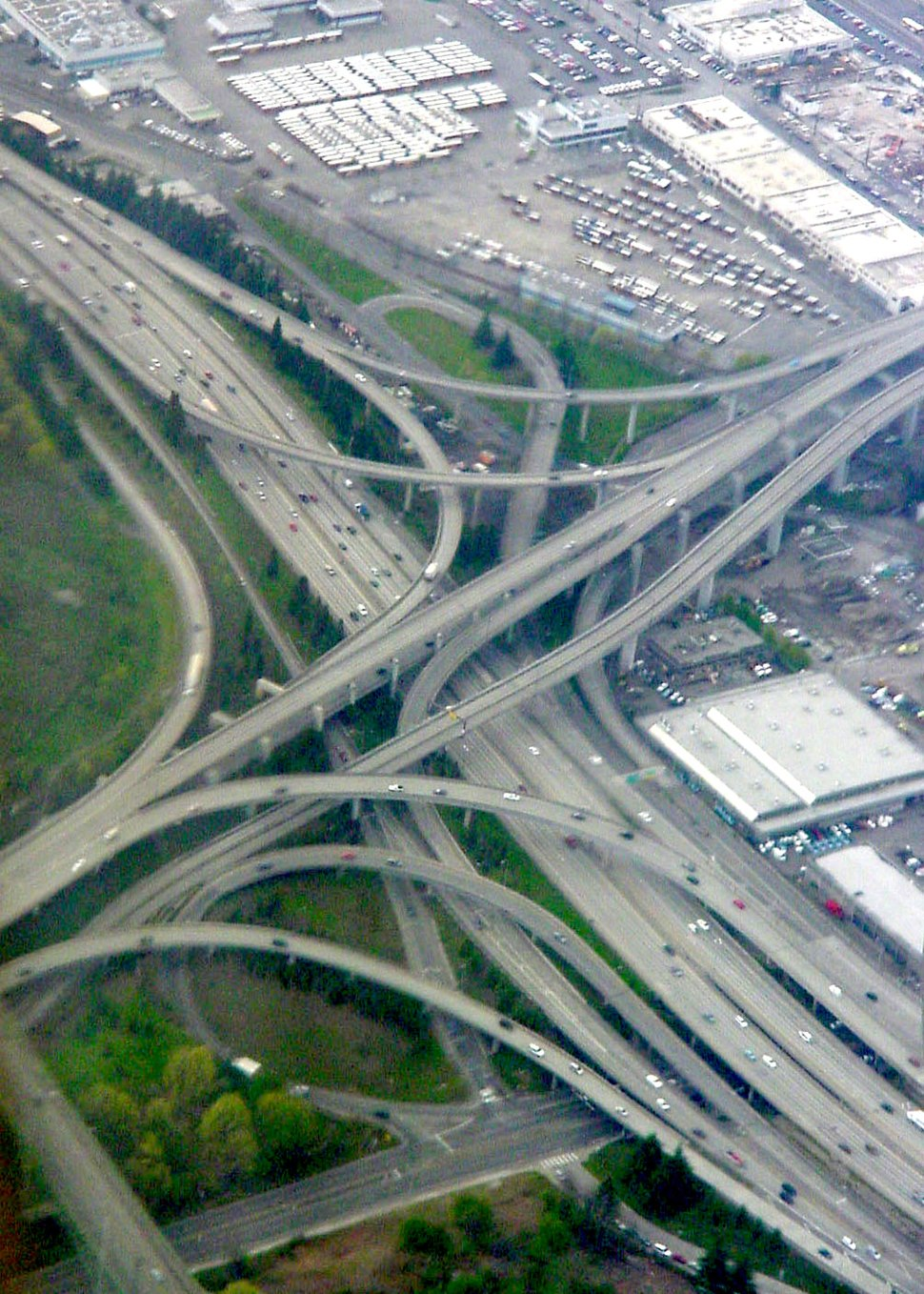I-90 and I-5 cloverleaf seattle washington
