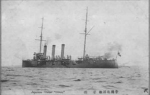 Japanese cruiser Otowa - In 1905