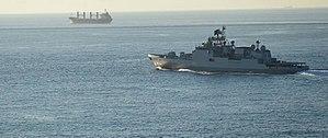 India–Turkey relations - INS Trikand entering Istanbul, Turkey; 4 October 2015.