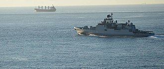 India–Turkey relations - INS Trikand entering Istanbul, Turkey; 4 October 2015.