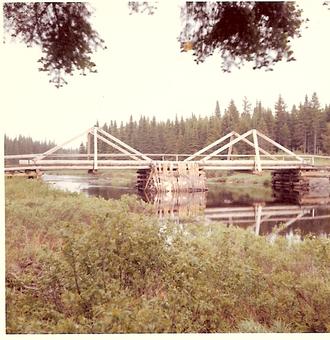 Baker Branch Saint John River - International Paper Company Bridge at Baker Lake