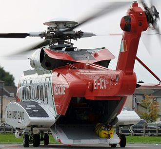 Irish Coast Guard - Sikorsky S92 (RESCUE118, EI-ICA) of the IRCG at UCH Galway in 2013