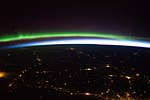 ISS-43 Earth sunrise, aurora and sparling cities in northern Europe.jpg