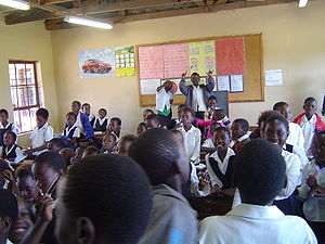 Reproductive rights - A classroom in South Africa.