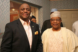 Femi Fani-Kayode -  Chief Femi Fani-Kayode with former military President, General Ibrahim Babangida (rtd) at a private dinner to honour Chief Fani-Kayode's 50th birthday organised by General Babangida in Lagos on 17 October 2010.