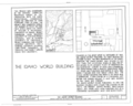 Idaho World Building, Main and Commercial Streets, Idaho City, Boise County, ID HABS ID,8-IDCI,5- (sheet 1 of 5).png