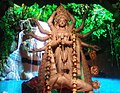 Idol of Goddess Durga being worshipped in a Panadal at Kolkata 06.jpg