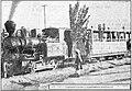 Il existe, en Afghanistan, quelques kilomètres de voies ferrées. La photographie represente une station de chemin de fer.jpg