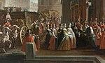 Ilario Spolverini - The Bishop of Parma pays tribute to Elisabeth Farnese.jpg