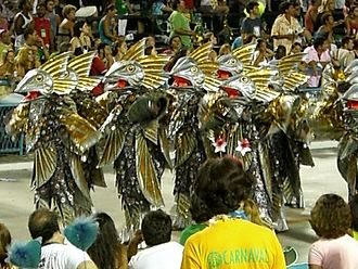 Samba school - Front commission dressed as codfish in the parade of Imperatriz Leopoldinense (2007)