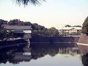 Imperial Household Agency - Imperial Household Agency building is located near the Sakashita gate of the palace