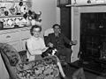 In search of the Welsh language in Ebbw Vale - Dewi and Olwen Samuel with Shan the cat (4837626906).jpg