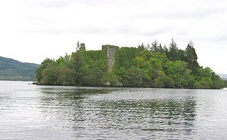 Clan Campbell - Innis Chonnell Castle on Loch Awe, possibly the earliest seat of the Clan Campbell.