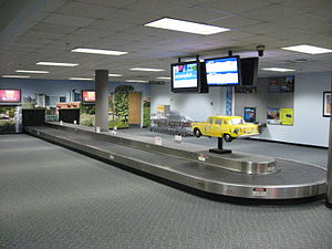 Kalamazoo/Battle Creek International Airport - Interior of the old terminal at the Kalamazoo Airport
