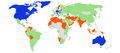International reaction to the 2008–2009 Israel–Gaza conflict Draft B.png