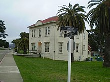 Le premier siège d'Internet Archive au Presidio, une ancienne base militaire américaine à San Francisco, de 1996 à 2009