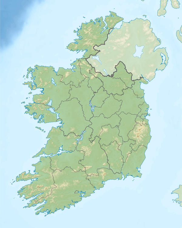 Map of the Republic of Ireland with the GAA Stadia