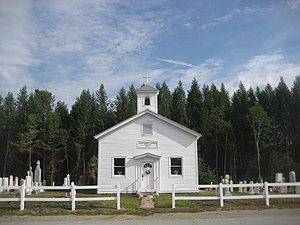 Minerva, New York - St. Mary's Church at Irishtown, a hamlet in Minerva