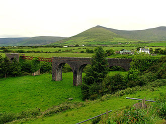 History of rail transport in Ireland - Disused railway viaduct at Lispole, County Kerry on the Dingle-Tralee line