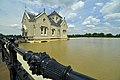 Iron railing leading to Crescent Hill Reservoir is a historic site in Crescent Hill, Louisville Kentucky.jpg