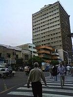 نمایی از ساختمان پلاسکو در سال ۱۳۹۰