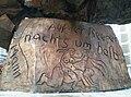 Jörg Immendorff 1986, Hans- Albers-Denkmal (Hans Albers Memorial), Hamburg, Germany 4.jpg