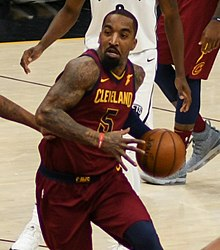 4e5fc26ea J.R. Smith (40627108671) (cropped).jpg. Smith with the Cavaliers in ...