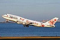 JALways B747-436SR (JA8187) departing Tokyo International Airport.jpg