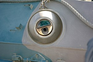 Mitsubishi Type 89 IFV - Close up of a firing port.