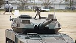 JGSDF Type 16 Maneuver Combat Vehicle(26-6348) gun turret right front view at Camp Nihonbara October 1, 2017 02.jpg