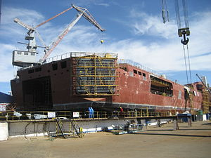 HNLMS Karel Doorman (A833) - Construction of stern