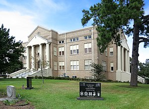 San Jacinto County, Texas - Jacinto City Texas Courthouse located in Coldspring