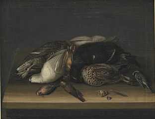Wildfowl on a Wooden Table