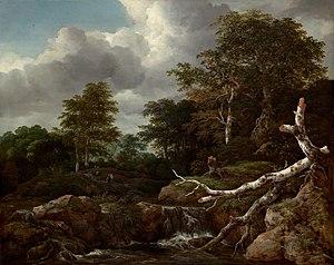 Landscape with Waterfall - Image: Jacob Isaaksz. van Ruisdael 016