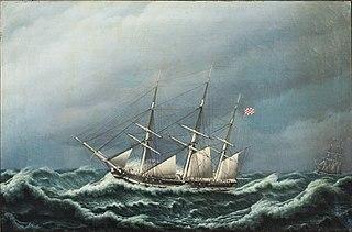 To danske fregatter i en storm signalerer med hinanden