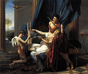 Sapho and Phao - Sapho and Phao. A Jacques-Louis David painting from the Moika Palace in Saint Petersburg