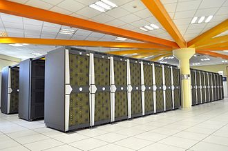 Supercomputer architecture - A SGI Altix supercomputer with 23,000 processors at the CINES facility in France
